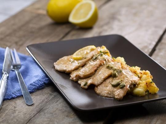 Скалопини с лимон и каперси
