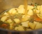 Гъбена супа с картофи и праз 4