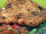 Пилешки шницел с португалски доматен сос