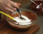 Шоколадов кейк с бял течен център 2
