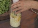 Зелена салата с езичета и лимоново-яйчена заливка 2