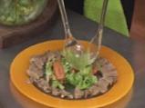 Зелена салата с езичета и лимоново-яйчена заливка 4