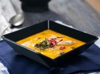 Супа от пъстърва с праз и суджук