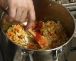 Супа от пъстърва с праз и суджук 9