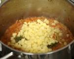 Супа от пъстърва с праз и суджук 10