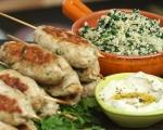 Пилешки кебап с булгур и спанак 8