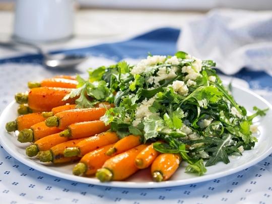 Кускус с глазирани моркови