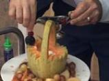 Кошничка от пъпеш с пресни плодове 4