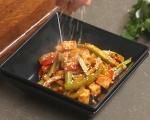 Сладко-кисело тофу със зеленчуци 8