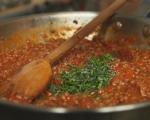 Сардински равиоли със сос от кайма и домати 9