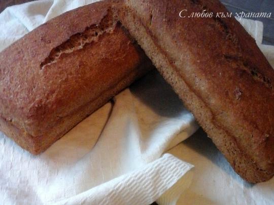 Бърз пълнозърнест хляб