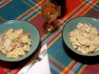 Ньоки с гъбено-сметанов сос