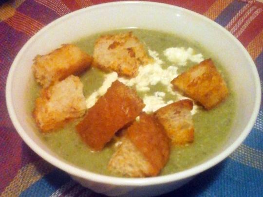 Спаначена крем супа със сирене