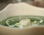 Супа от карфиол, коприва и спанак  7