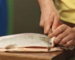 Сьомгова пъстърва с топла бобена салата 2