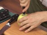 Шоколадово парфе с ябълки