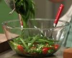 Салата от зелен боб и тиквички с таханов дресинг 4