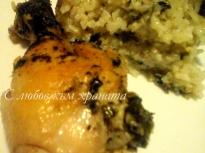 Пиле с лапад и ориз