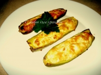Тиквички, пълнени с яйца и сирене
