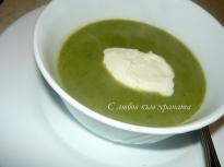 Зелена крем супа