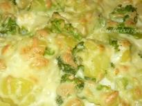 Запеканка с картофи и броколи