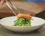 Спагети от тиквички със скариди 7