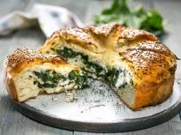 Диплен хляб със спанак и сирене