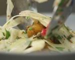 Салата от пресни картофи и резене 7