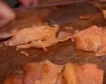 Палачинкова торта със спанак и сьомга 5