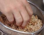 Спелта с тофу и пресен лук