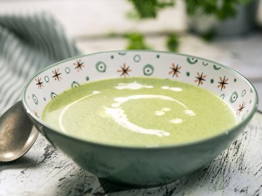 Крем супа от зелен фасул с пресен лук