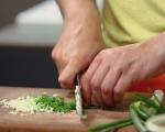 Крем супа от зелен фасул с пресен лук 3