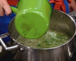 Крем супа от зелен фасул с пресен лук 5