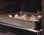 Печени пилешки бутчета с бял барбекю сос 4