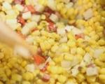 Царевична супа с деликатесен салам 5