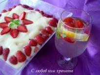 Бишкотена торта с ягоди