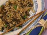 Пържен ориз с три вида гъби
