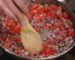 Паста с пилешко рагу и домати 3