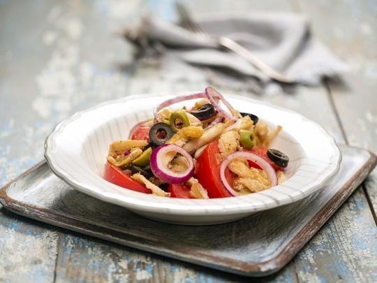Тосканска салата с шкембе