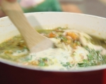 Пикантна пилешка супа с магданоз 11