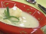 Студена супа от праз с естрагон