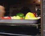 Лятна салата с печени чушки
