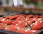 Чийзкейк с домати и босилек 5
