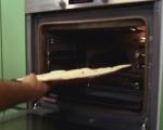 Хлебен пудинг с тиквички и домати 3