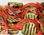 Салата от домати и патладжани с моцарела 5
