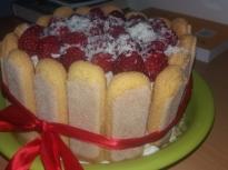 Бишкотена торта със заквасена сметана...