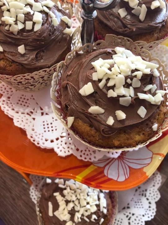 Мъфини с шоколад и банан