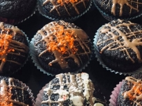 Шоколадови мъфини с тиквички