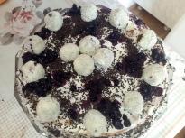 Торта с блатове от кексово тесто и дв...