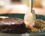 Шоколадов кейк с круши и сладолед от маскарпоне 6